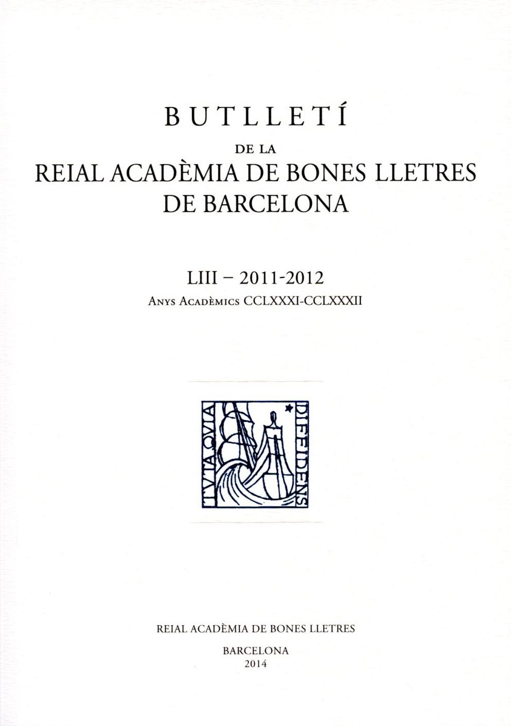 Butlletí vol. 53 (2011-2012)